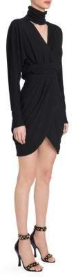 Versace Long Sleeve Bodycon Wrap Dress