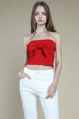 Honey Punch **Tie Front Knit Top