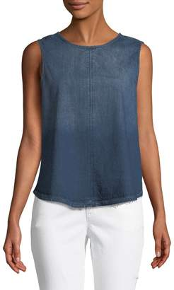 Velvet Heart Sleeveless Denim Button-Back Tank