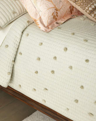 Pine Cone Hill Pompom Moonstone King Quilt