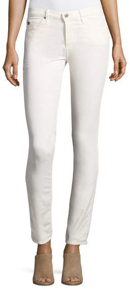 AG Jeans AG Adriano Goldschmied Prima Mid-Rise Cigarette Jeans, Powder White