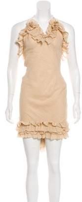 DSQUARED2 Silk V-neck Dress