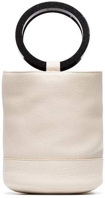 Simon Miller cream bonsai 15 leather bucket bag