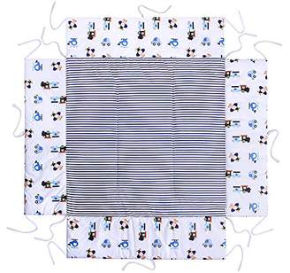 Camilla And Marc LULANDO playpen mat 100x100 cm for children, stable and safe, protects against impact, high sides, resistant to deformation, washable; surface 100% cotton, Oeko-Tex certification, made in EU