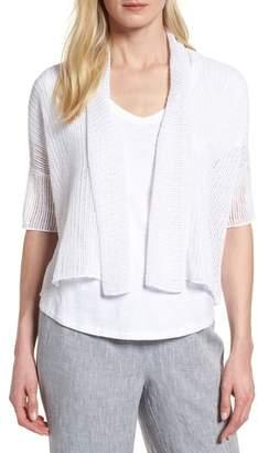 Eileen Fisher Boxy Organic Linen Cardigan