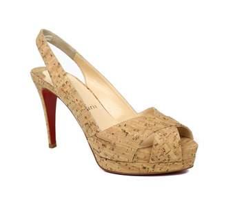 Christian Louboutin Camel Leather Heels