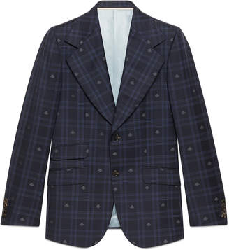 Gucci Heritage bee check jacket