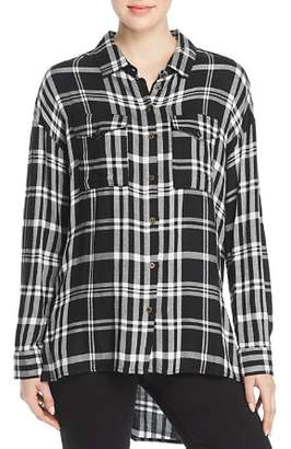 Velvet Heart Wilta Plaid Tunic Shirt