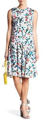 Ted Baker Printed Drop Waist Sleeveless Dress