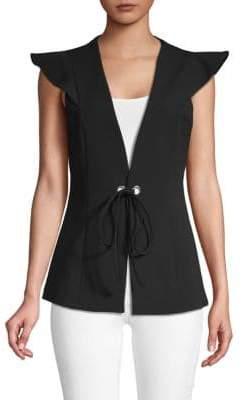 BCBGMAXAZRIA Classic Flutter-Sleeve Vest