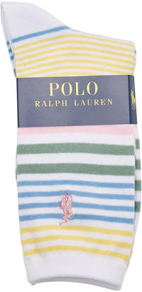 Polo Ralph Lauren Striped Socks with Cotton