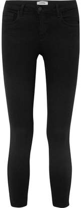 L'Agence The Mazzy Cropped Low-rise Skinny Jeans - Black