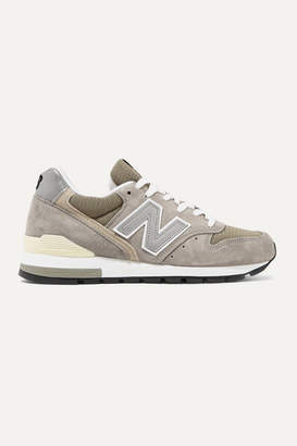 New Balance 996 Bringback Suede And Mesh Sneakers - Gray