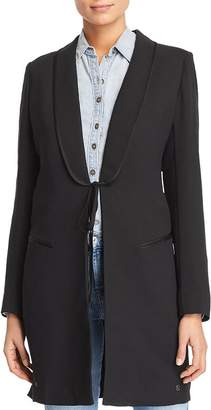 Scotch & Soda Long Tie Front Blazer