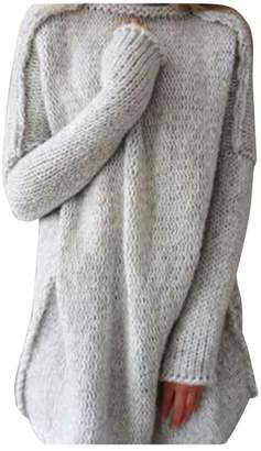 c392c8fb0540 DaySeventh Women Loose Fall Winter Oversize Knitting Sweater Jumper Shirt  Tops (M