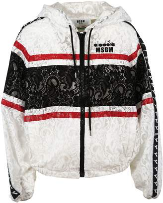 MSGM Laced Detail Hooded Bomber