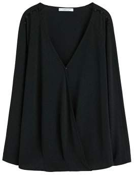 Violeta BY MANGO Buttoned wrap t-shirt