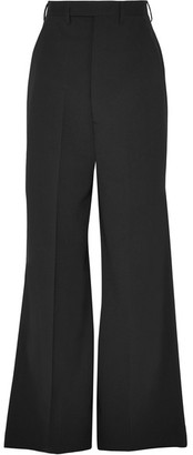 Rick Owens - Stretch-wool Wide-leg Pants - Black $1,175 thestylecure.com