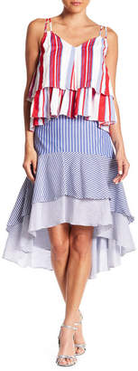Do & Be Do + Be Striped Layered Hi-Lo Skirt