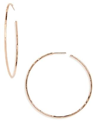 Argentovivo Hammered Large Hoop Earrings