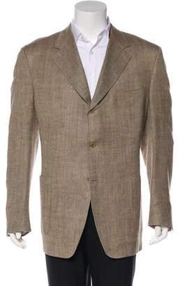 Canali Patterned Silk & Linen-Blend Blazer