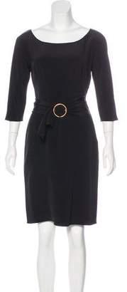 Prada Belted Silk Dress