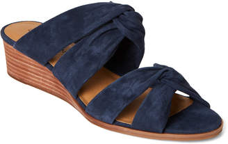 Lucky Brand Moroccan Blue Rhilley Knotted Wedge Sandals