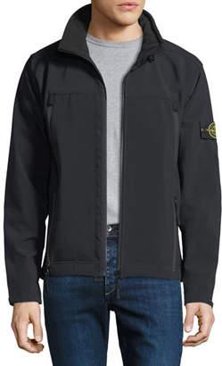 Stone Island Men's Lightweight Zip-Front Jacket