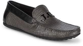 John Galliano Men's Embossed Leather Driver Shoe
