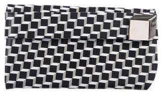 Pierre Hardy Printed Leather Clutch
