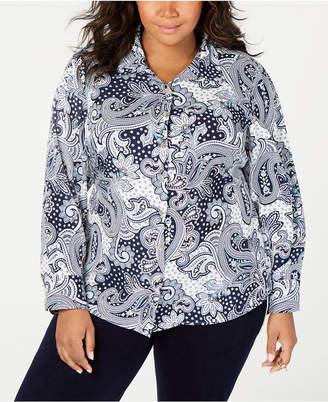 Tommy Hilfiger Plus Size Tyler Paisley Shirt
