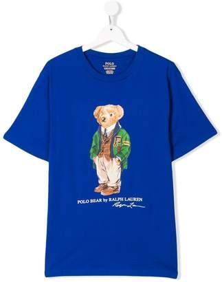 Ralph Lauren Kids TEEN Polo Bear print T-shirt