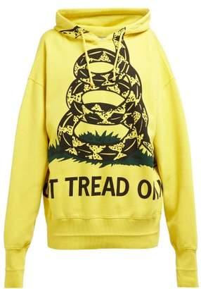 Vetements Snake Print Cotton Sweatshirt - Womens - Yellow