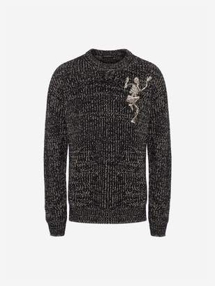 Alexander McQueen Dancing Skeleton Chunky Knit Sweater