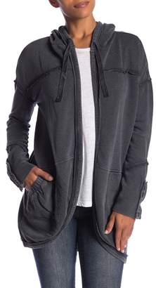 Melrose and Market Button Cuff Terry Hooded Jacket (Petite Available)