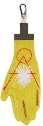 Craig Green Body Embroidered Satin Key Ring - Mens - Yellow