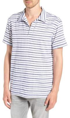 Bonobos Beach Slim Fit Stripe Cotton & Linen Shirt