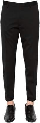 DSQUARED2 16cm Slim Stretch Wool Pants W/ Zips