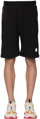 Moncler COTTON SWEAT SHORTS W/ LOGO DETAIL
