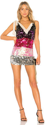 LPA Payette Sequin Deep V Dress
