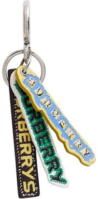 Burberry Tag Print Leather Key Chain