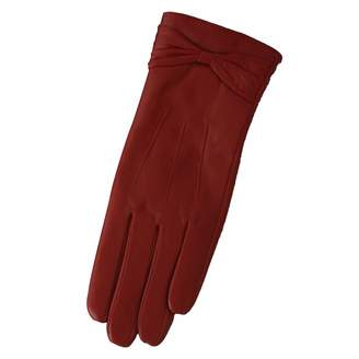 Eastern Counties Leather Womens/Ladies Ruched Bow Gloves (M)