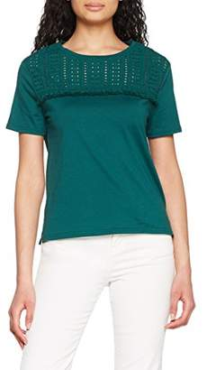 New Look Women's Broderie Yoke T-Shirt,(Manufacturer Size:38)