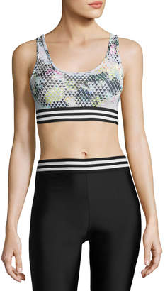 Onzie Graphic Elastic Band Low-Impact Sports Bra, Geometric Multicolor