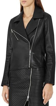 REISS Brewer Leather Biker Jacket $795 thestylecure.com