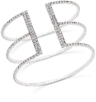 INC International Concepts I.N.C. Gold-Tone Crystal Triple Row Flex Bracelet, Created for Macy's
