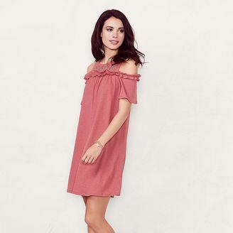 Women's LC Lauren Conrad Cold-Shoulder Shift Dress $50 thestylecure.com