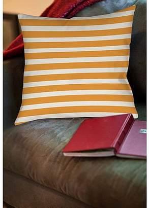 IDG Thumbprintz Bright Stripes Orange Indoor Pillow