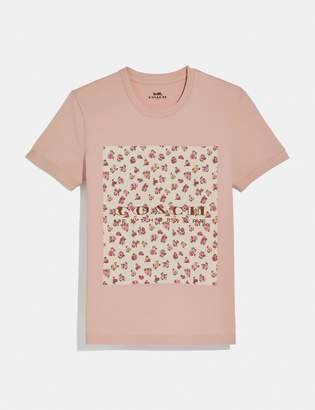 Coach Mother'S Day Floral Print T-Shirt