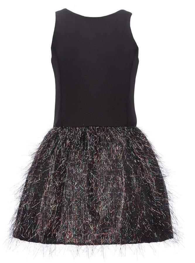 Zoe Big Girls 7-16 Solid/Metallic Fringe A-Line Dress
